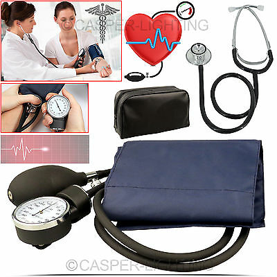 Aneroid Nylon Cuff Blood Pressure Monitor Sphygmomanometer Stethoscope Meter Kit
