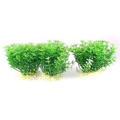 Sourcingmap Aquarium Oval Base Water Grass Plant, 3.5-Inch, Green