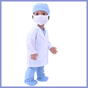 New Australian Girl Doll Doctor Coat and Scrubs
