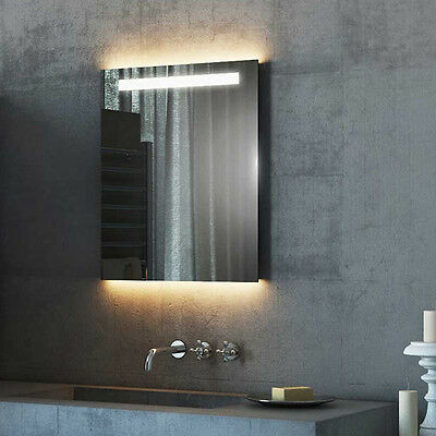 Light Mirrors Halo Range Enlighten Bathroom Mirror with Demister & Shaver Socket