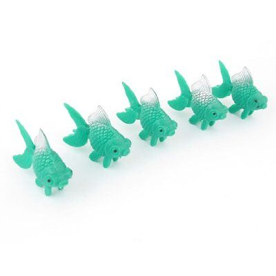 Sourcingmap Aquarium Tank Swaying Tails Tropical Fish Oranment, 5 Pieces, Green