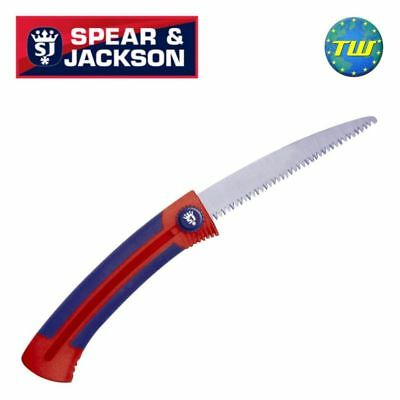 """Spear & Jackson 6"""" Razorsharp Retractable Tree Branch Cutting Pruning Saw 4933PS"""