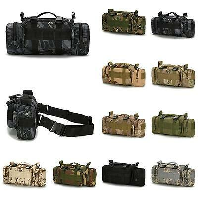 Tactical Military Waist Pack Shoulder Outdoor Bag Molle Camping Hiking Utility