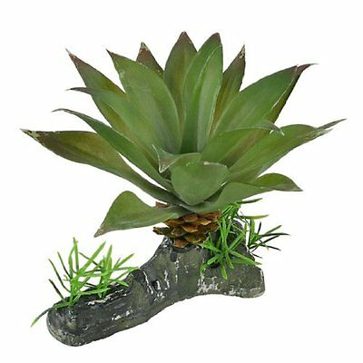 Sourcingmap Ceramic Base Decorative Aquarium Water Plants, 4.3-inch, Green