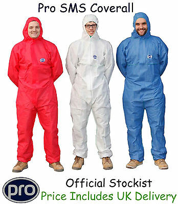 PRO Coveralls Category 3 Protective Disposable Overall Suit Painting Decorating