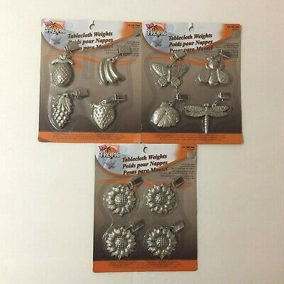 New Tablecloth Table Metal Steel Weight Clips 4 Set Clamp Picnic Party Outdoor