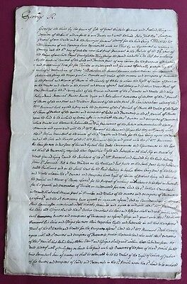 Hand written Legal Document , 1786,  Kings Warrant - Land in Clewer,  Berkshire