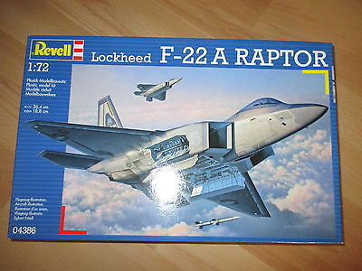 Lockheed F-22 A Raptor, Revell 04386 Bausatz Kit in 1:72 sealed!