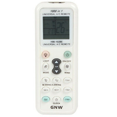 GNW K-1028E 1000 in 1 Universal A/C Remote Control with New Back Light Function