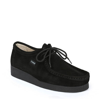 Tower London Mens Shoes Black Lace Up Casual Wallabee Suede Leather Durable Sole
