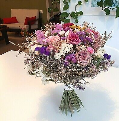 Natural Dried Flowers. A beautiful handmade fragrant dried flowers bouquet.