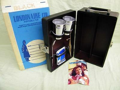 The Portable Pub by Londonaire Mid Century Travel Bar Rare - Complete Never Used