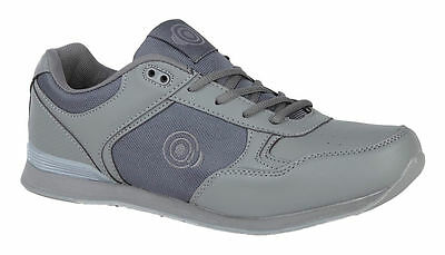 Mens DEK Bowls Grey Bowling Sports Lace Up Shoes Trainers