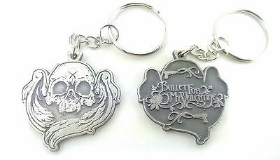 Bullet for my Valentine Keychain Keyring Key doble sided Pendant Pewter Silver