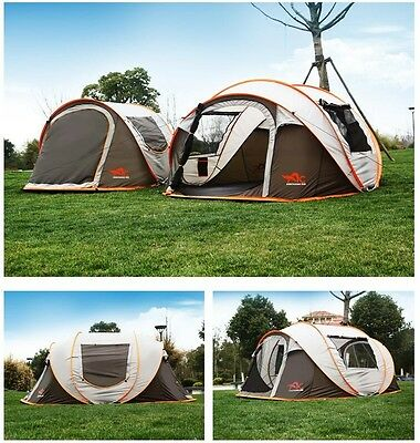 NEW 5-8 Person Layer Waterproof Family Party Camping Hiking Travel Instant Tent