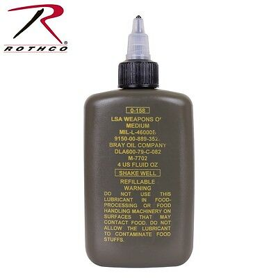 G.I. LSA Weapons Oil 4oz Bottle Weapon Lubricant Rothco 4794