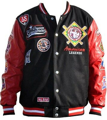 NLBM Mens Embroidered Wool Jacket Black/Red