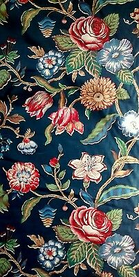 Vintage Jay Yang Floral Cotton Upholstery Fabric 4.5 Yds