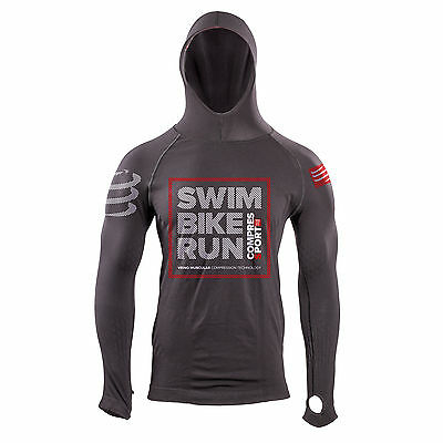 Compressport Casual Seamless Hoodie Tri 226 Edition Ironman Pullover mit Kapuze