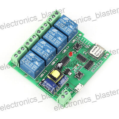 WiFi Switch Relay Delay Module 4-way control AC 220V for Smart Home