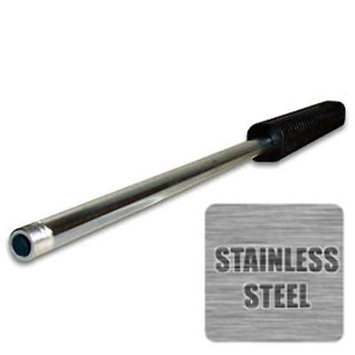 """48"""" Pressure Washer Spray Wand / Lance, Stainless Steel, Oval Molded Grip"""