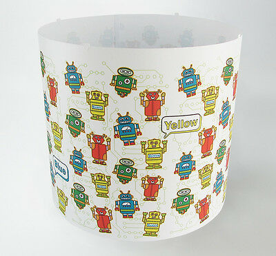 SPARE Robots colours Lampshade nursery Light shade (Magnetic Set NOT INCLUDED!)