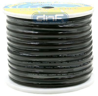 2 Gauge 20 Feet Black See Through Power Cable