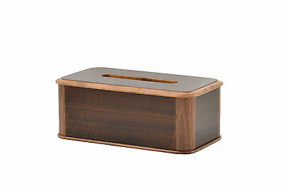 Wooden tissue box cover. Smoked etimoe and walnut . NEW!