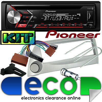 Ford KA Pioneer Bluetooth CD MP3 USB AUX Car Stereo Player & Silver Fitting Kit