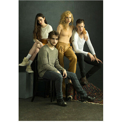Hemlock Grove Landon Liboiron Bill Skarsgard with Girls 8 x 10 Inch Photo