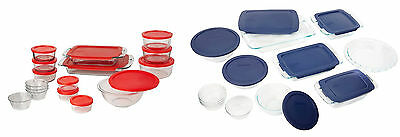 Pyrex Easy Grab Glass Bakeware and Food Storage Set, 6 Sizes