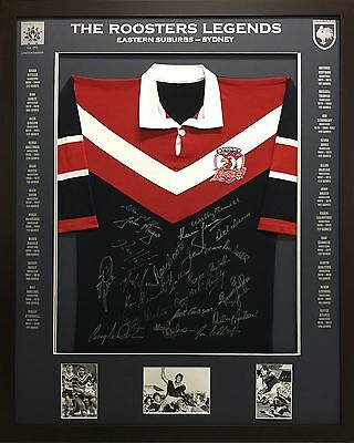 Blazed In Glory - Easts/Sydney Roosters Legends - NRL Signed and Framed Jersey