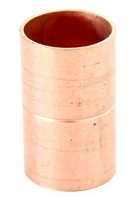 "Lot of (25) 1/2"" Coupling Rolled Stop C x C Sweat Ends - COPPER PIPE FITTING"