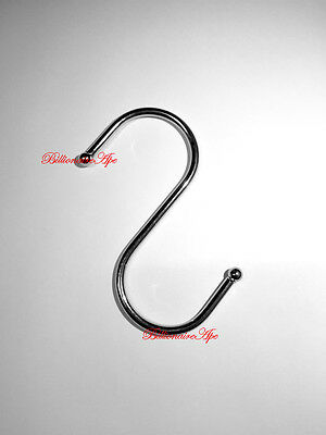 2pcs Stainless Steel S Hook Hanging Clothes Pants Kitchen Hanger Storage Holder