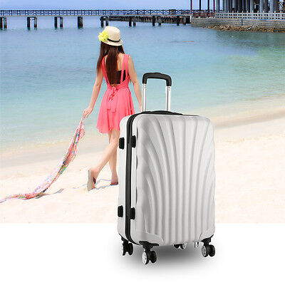 Hard Shell 4 Wheel Spinner Suitcase Set Luggage Trolley Case Cabin Hand SA