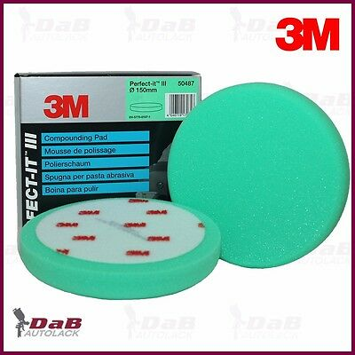 3M 50487 Perfect-it III Eponge de polissage vert Ø150 mm