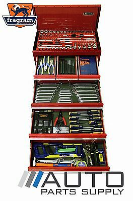 """213 Piece 1/4"""" 3/8"""" 1/2"""" Drive Tool Kit with 6 Drawer Tool Chest *Fragram Brand*"""