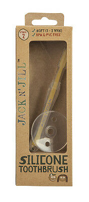 Jack N' Jill Silicone Toothbrush  - Stage 2: 12-24 months Babies Toddlers