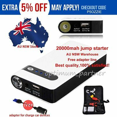 20000mAh Mini Portable Car Jump Starter Phone Power Bank Battery Charger Pack AU