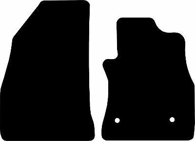 Fiat Doblo Van (2010-DATE) Tailored Black Checkered Rubber Van Floor Mats