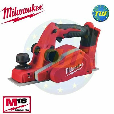 Milwaukee M18BP-0 18V 82mm Cordless Planer with Dust Bag Bare Unit