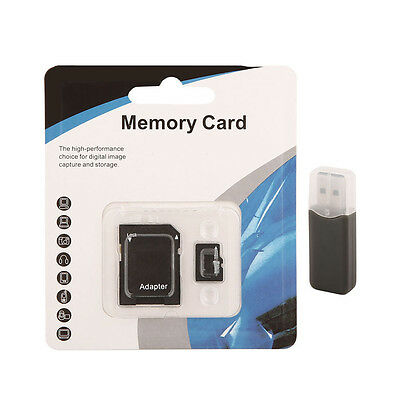 8GB TF Memory Card Class 6  Micro SDHC Ink.Adapter + Kartenleser Micro SD Card