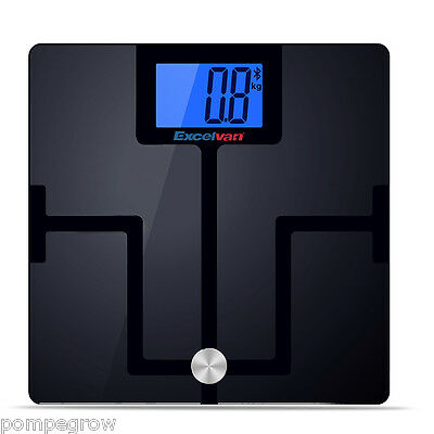 Excelvan 180kg Digital Bluetooth Bathroom Body Fat Scale FreeApp for iOS Android