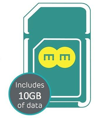 EE 4G PAYG Multi SIM Card Preloaded With 10GB Data for 30 Days.