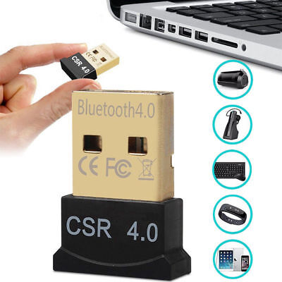 Wireless USB Bluetooth V4.0 Adapter Dongle for PC Windows 10 8 7 Vista Speakers