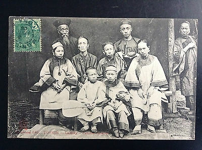 CP carte postale Indo Chine Tonkin Laokay famille chinoise