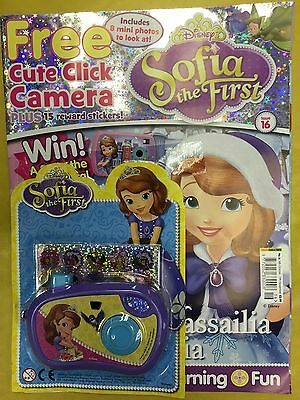 Disney SOFIA THE FIRST Magazine Comic Issue 16 FREE CLICK CAMERA + 8 PHOTOS Stor