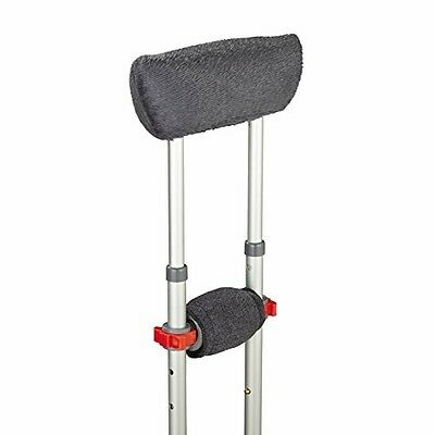 Medline Gray Crutch Underarm Pillow And Hand Grip Model-MDSPPC107 Free Shipping