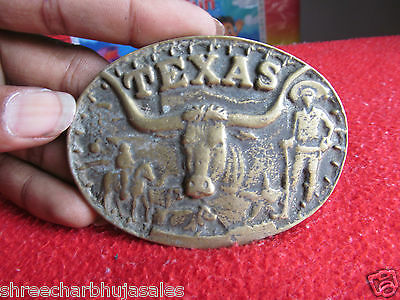 Rare Antique Brass Early Texas Star Belt Buckle Original Piece In Good condition