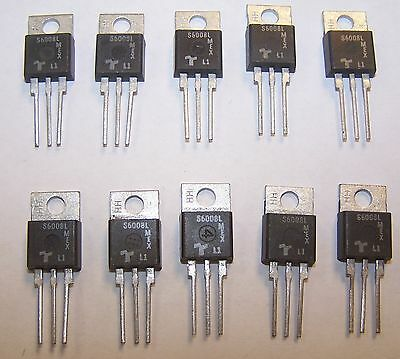 New 10 PCS S6008L 600V 8 Amp Sensitive Gate Thyristor SCR TO-220 Pack 5P6-22-01
